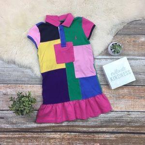 Ralph Lauren | Vintage Colorblock Patchwork Dress